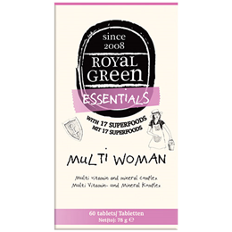 Royal Green Multi Woman - Vitamin and Mineral Complex - 60 Tablets - Best before date is 30th April 2018
