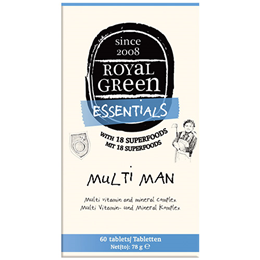 Royal Green Multi Man - Multi Vitamin and Mineral Complex - 60 Tablets - Best before date is 28th February 2019