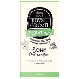 Royal Green - Essentials - Bone Food Complex - 120 Tablets  - Best before date is 12th November 2016