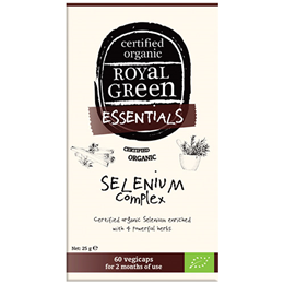 Royal Green Certified Organic Selenium Complex - 60 Vegicaps