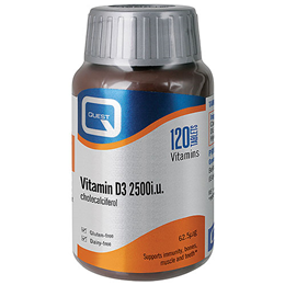 Quest Vitamin D3 - 2500iu - Cholecalciferol - 120 Tablets