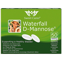Sweet Cures Waterfall D-Mannose - 1000mg x 50 Tablets