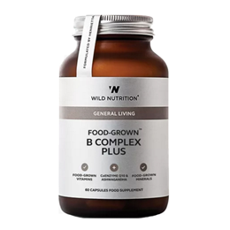 Wild Nutrition Food-Grown B Complex Plus - 60 Capsules
