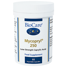 BioCare Mycopryl 250 - Junior Strength Caprylic Acid - 60 Vegicaps