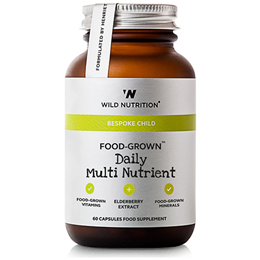 Wild Nutrition Food-Grown Children`s Daily Multi Nutrient- 60 Capsules