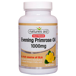 Natures Aid Evening Primrose Oil - Cold Pressed - 90 x 1000mg Capsules