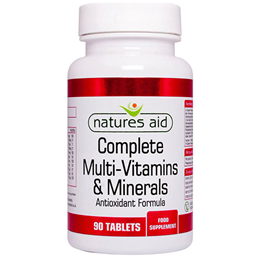 Natures Aid Complete Multi-Vitamins & Minerals - 90 Tablets