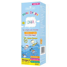 Natures Aid DHA - Lemon Flavour - Children & Infants - 50ml