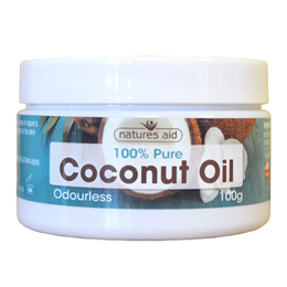 Natures Aid Odourless Coconut Oil - 100g