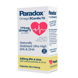 Paradox Omega 3Cardio TG - Heart Health - 30 x 1165mg Capsules - Best before date is 31st January 2020