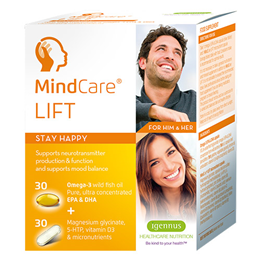Igennus MindCare Lift - 30+30 Capsules - Best before date is 31st March 2018