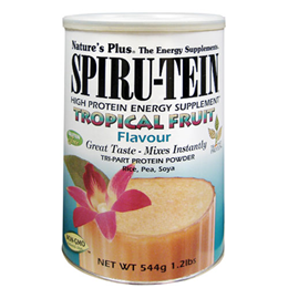 Natures Plus Spirutein Tropical Fruit - Protein - 544g