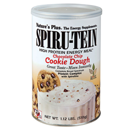Natures Plus Spirutein Chocolate Chip Cookie Dough - 510g