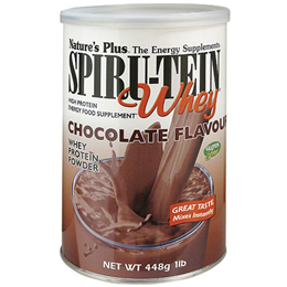 Natures Plus Spirutein Whey Protein - Chocolate - 448g