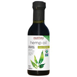 Nutiva Cold Pressed Hemp Oil - Organic Superfood - 236ml