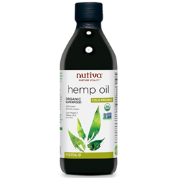 Nutiva Cold Pressed Hemp Oil - Organic Superfood - 473ml