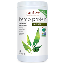 Nutiva Organic Hemp Protein Hi-Fiber Superfood - 454g Powder