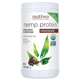 Nutiva Organic Hemp Protein Shake - Chocolate - Superfood - 454g