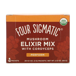 Four Sigmatic Cordyceps Mushroom Elixir Mix with Ginseng - 20 Packets