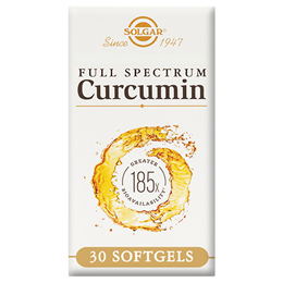 Solgar Full Spectrum Curcumin 185x - 30 x 800mg Softgels