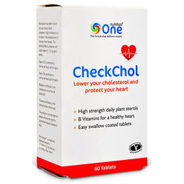 One Nutrition CheckChol - Lower Cholesterol - 60 Tablets