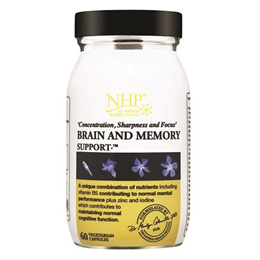 Natural Health Practice Brain and Memory Support - 60 Vegicaps
