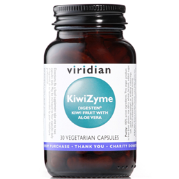 Viridian KiwiZyme - Digesten Kiwi Fruit with Aloe Vera - 30 Vegicaps
