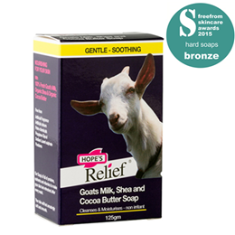 Hope`s Relief Goat`s Milk Soap - Cleanse and Moisturise - 125g