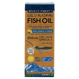 Wiley`s Finest Wild Alaskan Fish Oil - Peak Omega-3 - 125ml