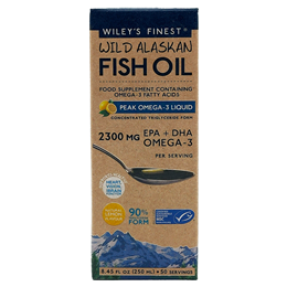 Wiley`s Finest Wild Alaskan Fish Oil - Peak Omega-3 - 250ml
