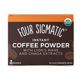 Four Sigmatic Mushroom Coffee Mix - Lion`s Mane & Chaga - 10 Packets