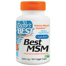 Doctors Best MSM - 180 x 1000mg Vegicaps