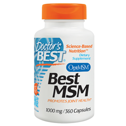 Doctors Best MSM - 360 x 1000mg Capsules