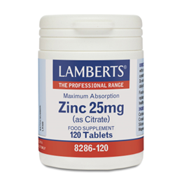 LAMBERTS Maximum Absorption Zinc as Citrate - 120 x 25mg Tablets