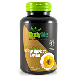 BodyMe Organic Bitter Apricot Kernel - 180 x 500mg Capsules