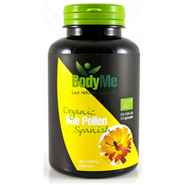 BodyMe Organic Spanish Bee Pollen - 180 x 500mg Capsules - Best before date is 4th December 2017