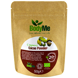BodyMe Organic Cacao Powder - 50g - Best before date is 31st March 2017