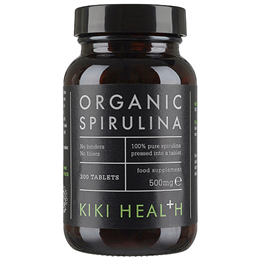 KIKI Health Organic Spirulina - 100% Raw - 200 x 500mg Tablets