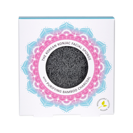 The Konjac Sponge Co Konjac Facial Puff Sponge - Bamboo Charcoal