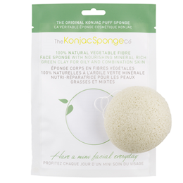 The Konjac Sponge Co Konjac Facial Puff Sponge - Green Clay