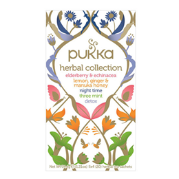 Pukka Teas Organic Herbal Collection - 20 Teabags x 4 Pack