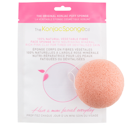 The Konjac Sponge Co Konjac Facial Puff Sponge - French Pink Clay