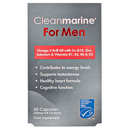 Cleanmarine Krill Oil for Men - Omega 3 - 60 x 600mg Capsules