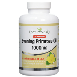 Natures Aid Evening Primrose Oil - Cold Pressed - 180 x 1000mg Softgels