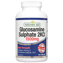Natures Aid Glucosamine Sulphate - High Strength- 180 x 1500mg Tablets