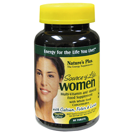 Natures Plus Source of Life Women Multivitamin & Mineral - 60 Tablets