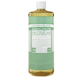 Dr Bronner`s 18-in-1 Organic Green Tea Castile Liquid Soap - 946ml