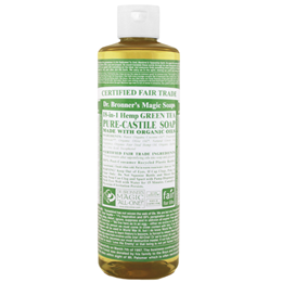 Dr Bronner`s 18-in-1 Organic Green Tea Castile Liquid Soap - 473ml