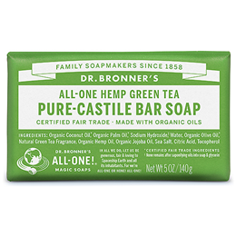 Dr Bronner`s Green Tea Castile Soap Bar - 140g