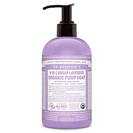 Dr Bronner`s 4-in-1 Organic Lavender Sugar Soap - 355ml